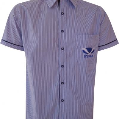 Camisa Social listrada com Stretch