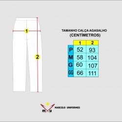 Tabela de Medidas Cal�a de Agasalho