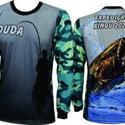 Camiseta de Pesca com Repelente e UV