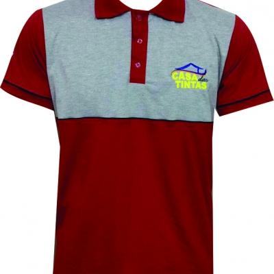 Camisa Polo em Piquet com elastano